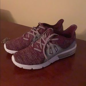 Nike air max sneakers worn once size 7 woman's.